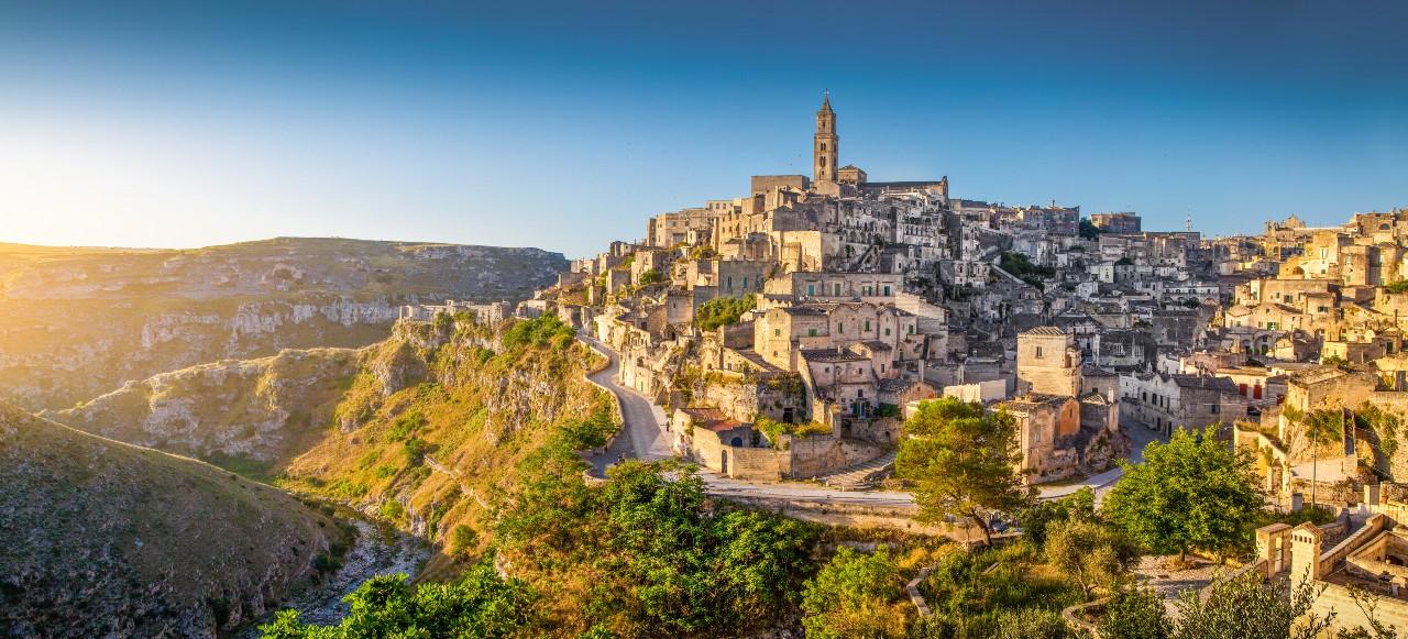 Matera Stadt, Apulien, Italien