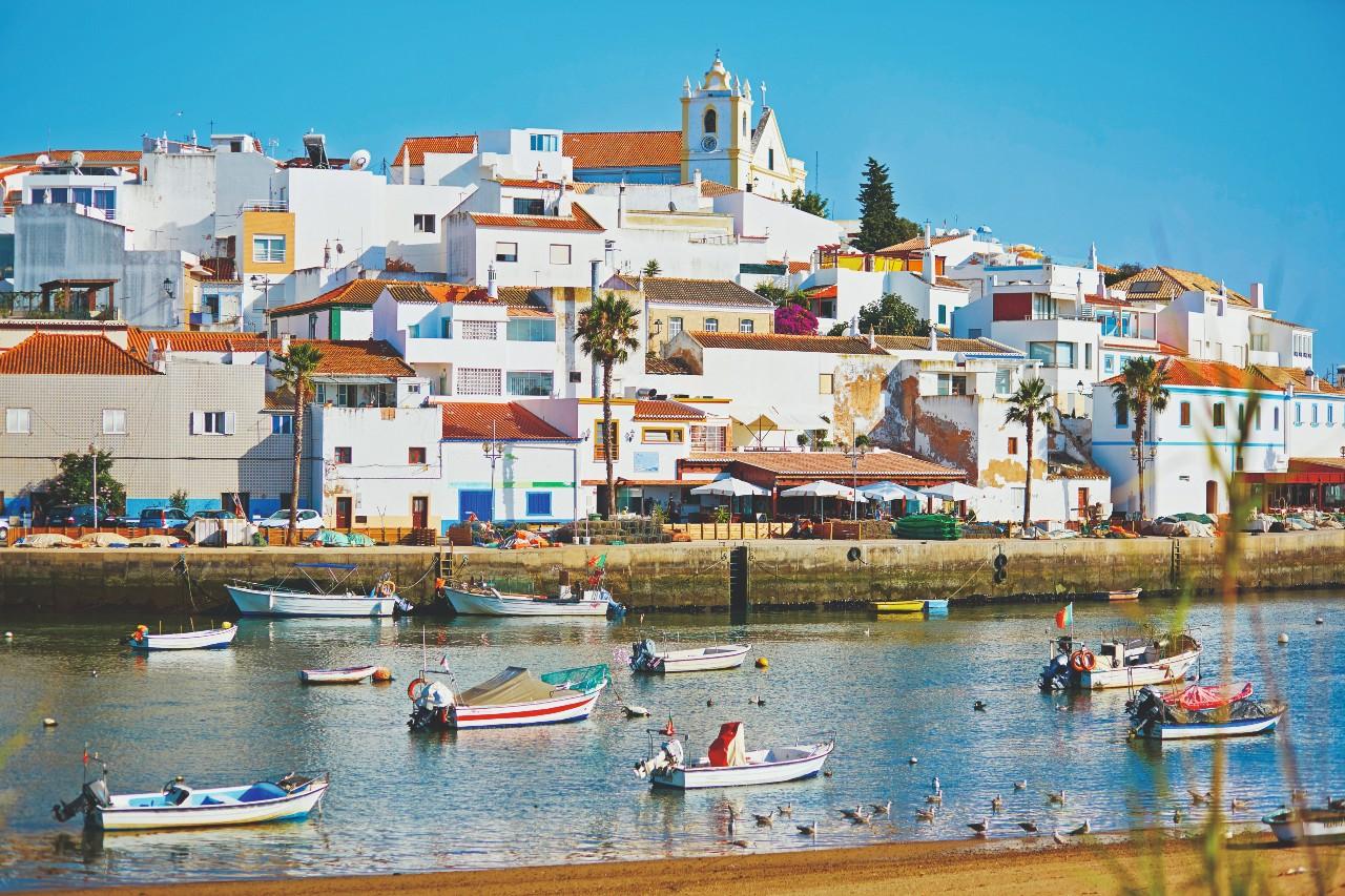 Ferragudo Fishing Boats, Algarven, Portugal